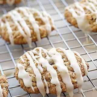 Iced Oatmeal-Applesauce Cookies.