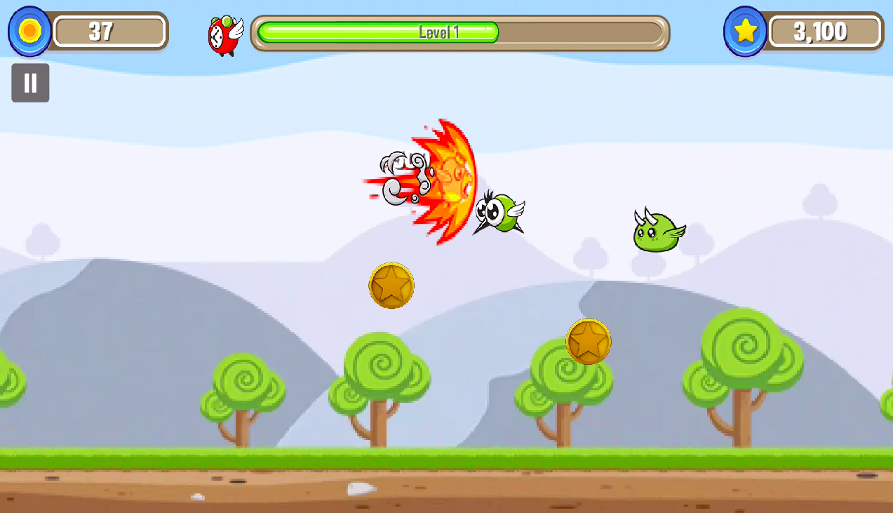 Bird Blast: Fire Shooting Bird- screenshot