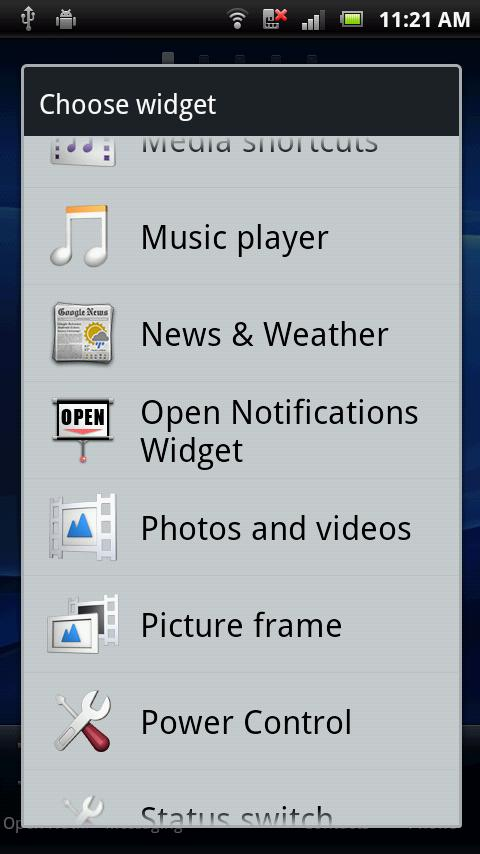 Open Notifications - screenshot