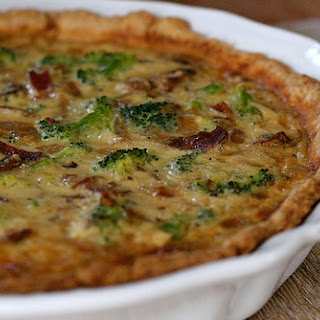Bacon, Mushroom and Broccoli Quiche.