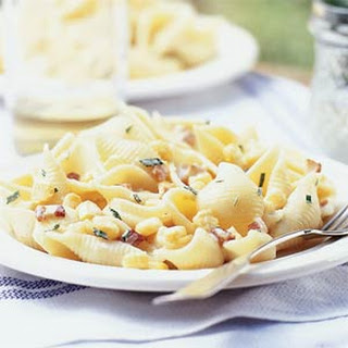 Pasta Shells with Corn and Bacon