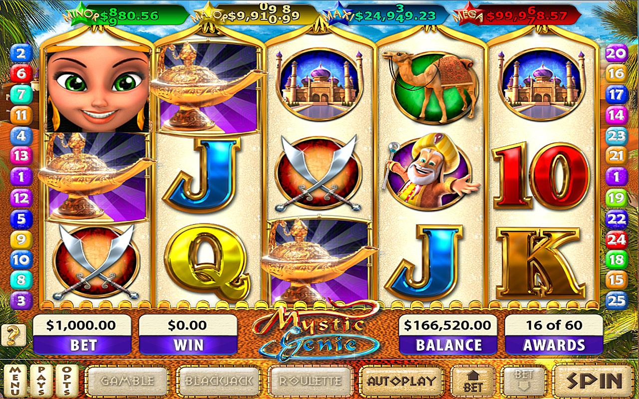 Mystic Genie Slots - screenshot
