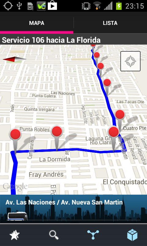 Transantiago Bus Checker - screenshot