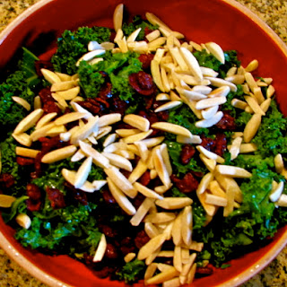 Cranberry Almond Kale Salad Recipe