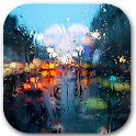 Rain behind glass icon
