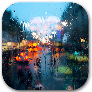 Rain behind glass download