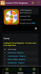 FREE Ringtones Crazme screenshot 0