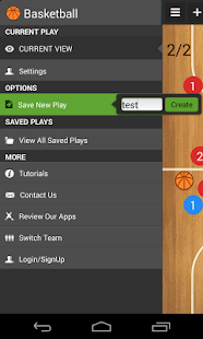 Basketball coach's clipboard - screenshot thumbnail