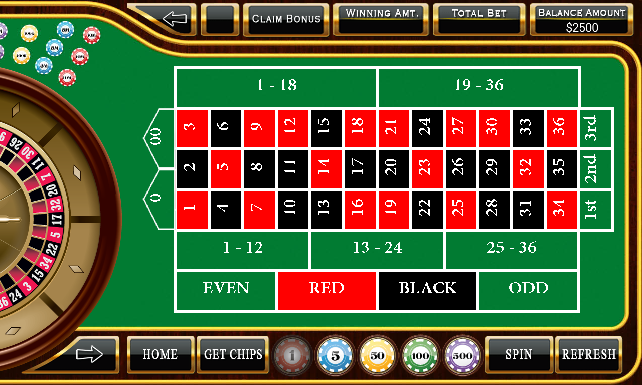 online casino for free play roulette now