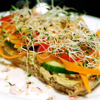 Hummus and Vegetable Sandwiches.