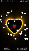 Screenshot of 3D Neon Love Shower LWP