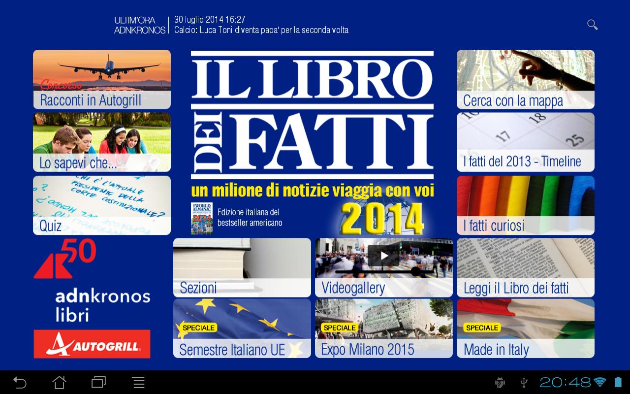 Libro dei Fatti 2014 - screenshot