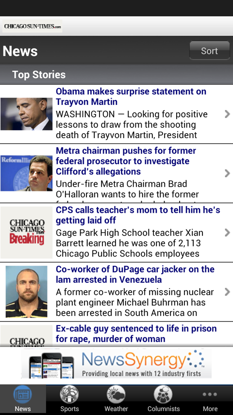 Sun-Times Breaking News - screenshot