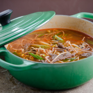 Beef and Bean Sprout Soup.