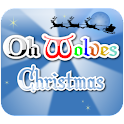 Oh Wolves Christmas logo