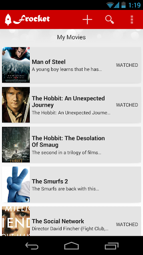 Frocket - Personal Movies List