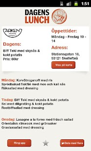 Dagens Lunch Norran - screenshot thumbnail