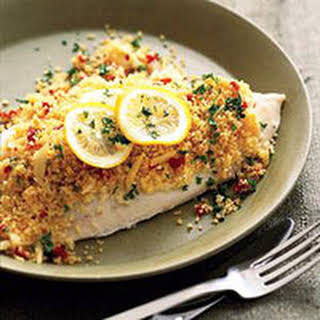 Tilapia Baked in Couscous.