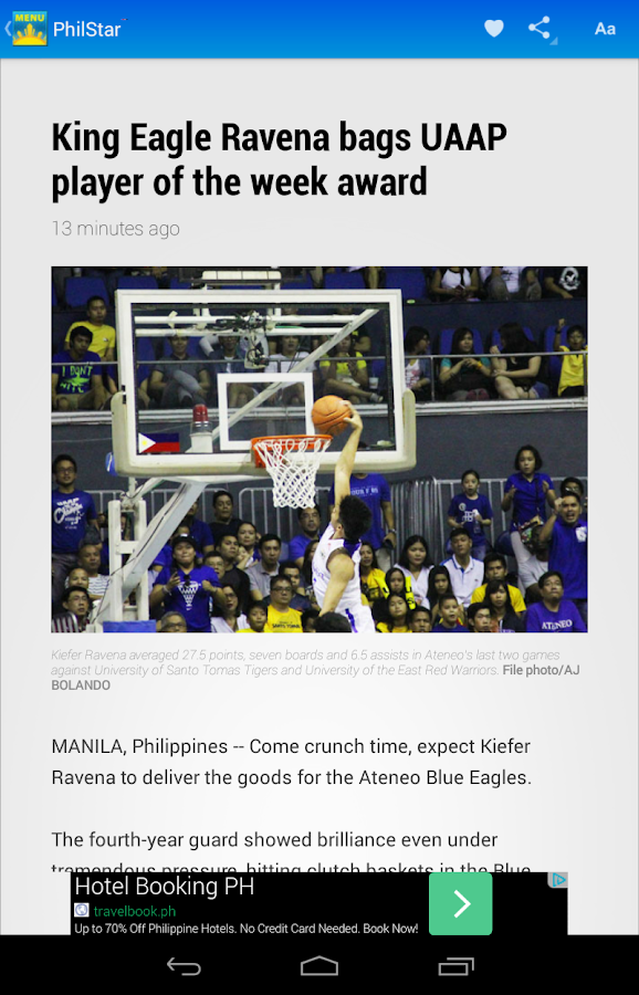 Philstar for Android- screenshot