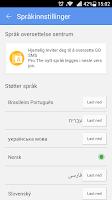 Screenshot of GO SMS Pro Norwegian language