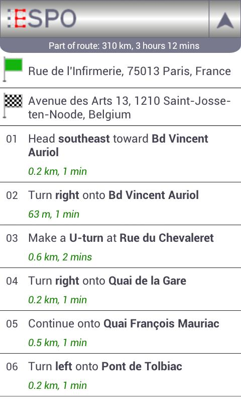 ESPO Free - Route Planner- screenshot