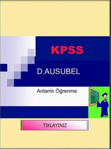 KPSS EĞİTİM BİLİMLERİ ÖĞRENME