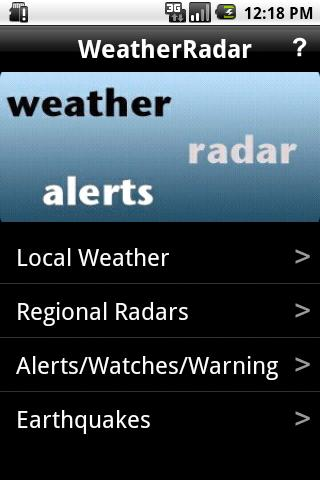 Weather / Radar / Alerts - screenshot