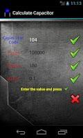 Screenshot of Calculate Capacitor