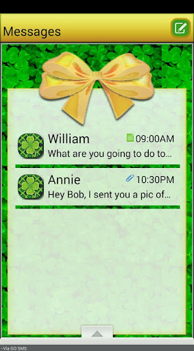 IrishBows GO SMS THEME