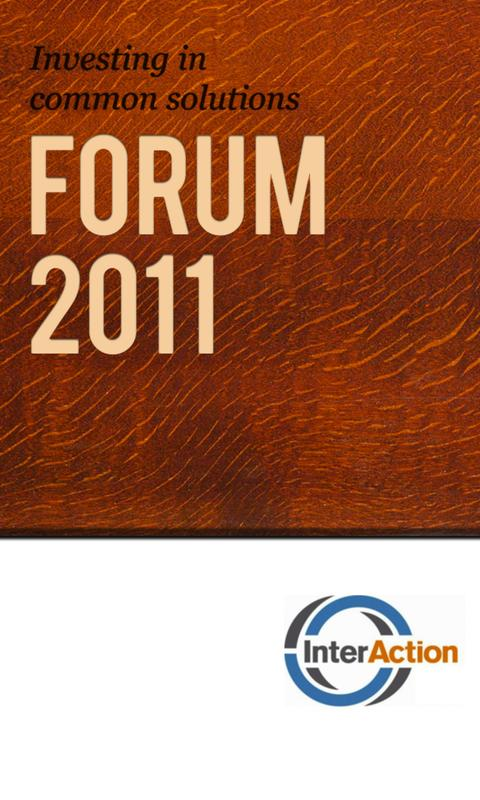 InterAction Forum 2011 - screenshot