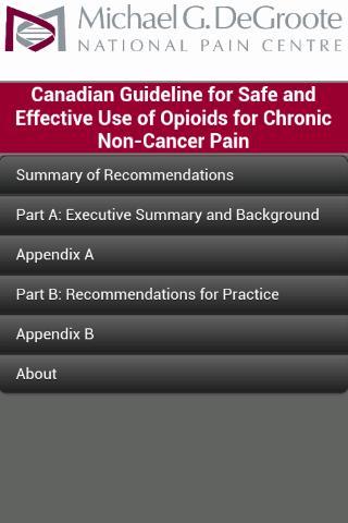 NPC Opioid Guidelines- screenshot