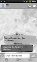Screenshot of Whitewashed Go Sms Theme
