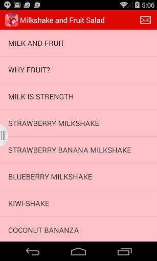 Milkshake Fruit Salad Recipes