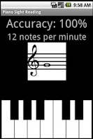 Screenshot of Piano Sight Reading