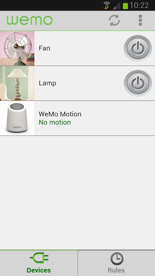 WeMo Beta - screenshot