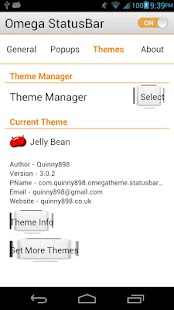 Jelly Bean 4.2 Omega StatusBar - screenshot thumbnail