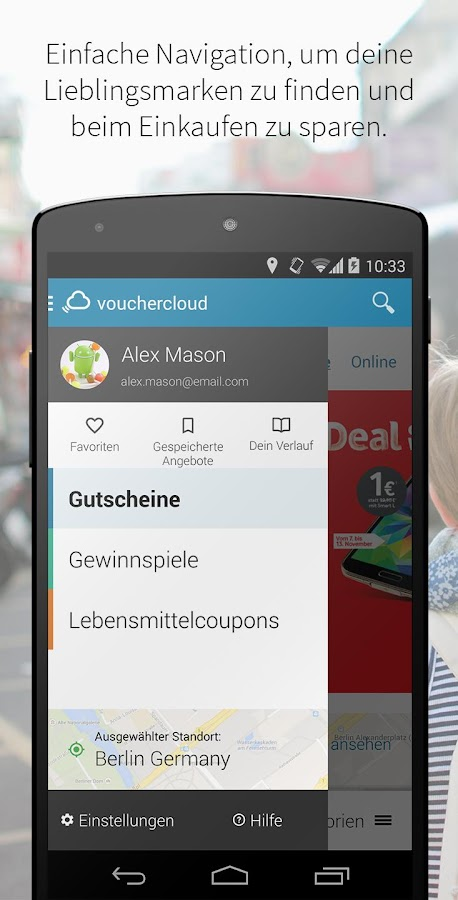 vouchercloud – Screenshot