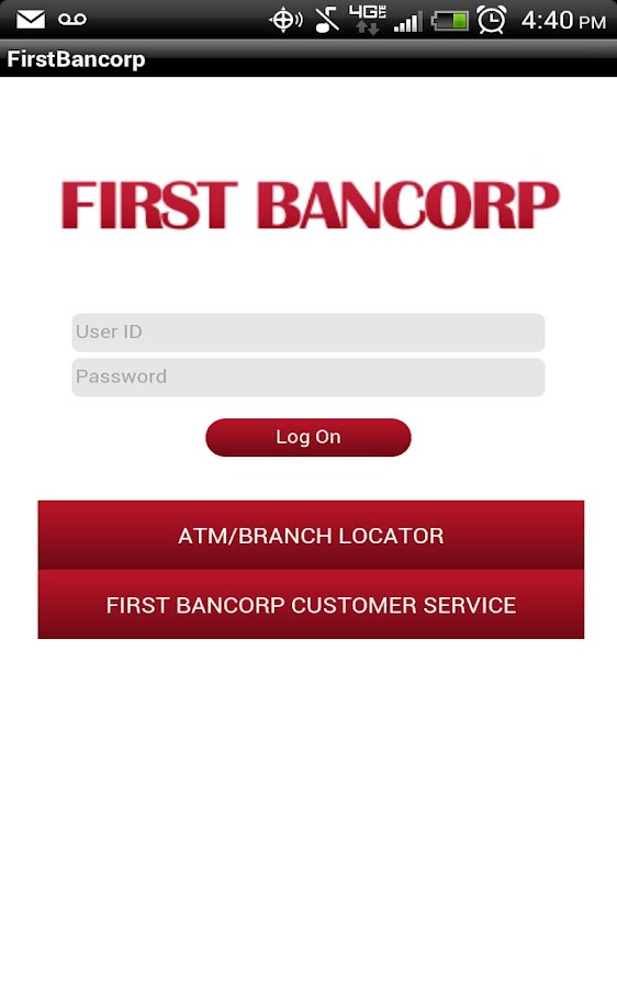 FirstBancorp mobile Banking - screenshot