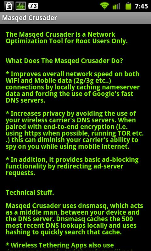Masqed Crusader-Browse Faster - screenshot
