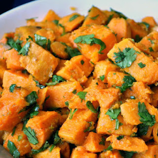 Sweet Potatoes with Lime-Cilantro Dressing.