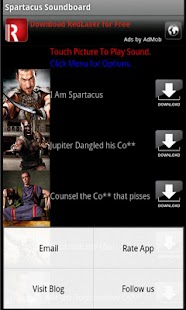 Spartacus Soundboard - screenshot thumbnail