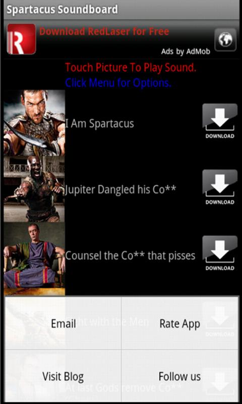 Spartacus Soundboard - screenshot