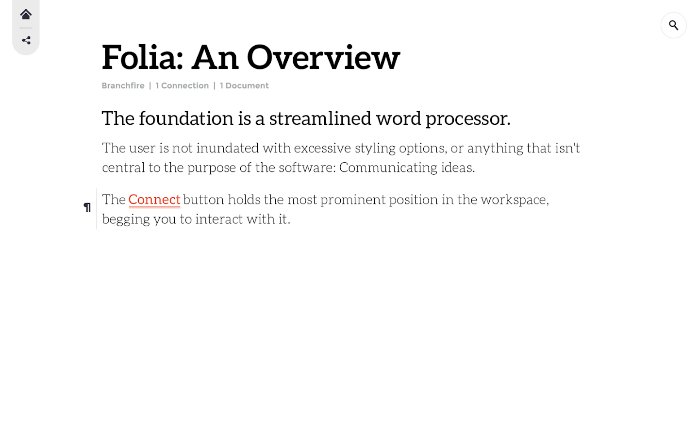 Folia - screenshot