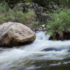 Big Thompson River by David Andrus - Landscapes Waterscapes ( estes park, drake, colorado, big thompson river, big thompson canyon )