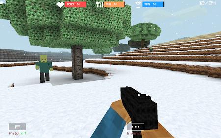 Cube Gun 3D : Winter Craft 1.0 screenshot 44132