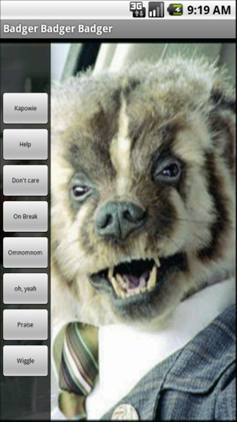 Badger Soundboard - screenshot