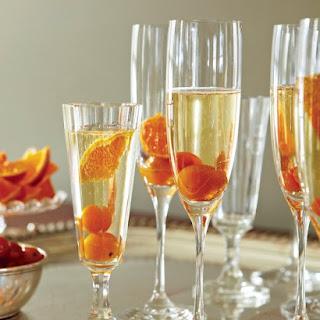 Kumquat-Champagne Cocktails.