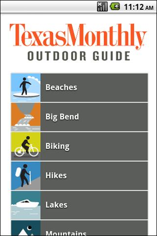 Texas Monthly Outdoor Guide - screenshot