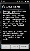 Screenshot of Defriended for Android