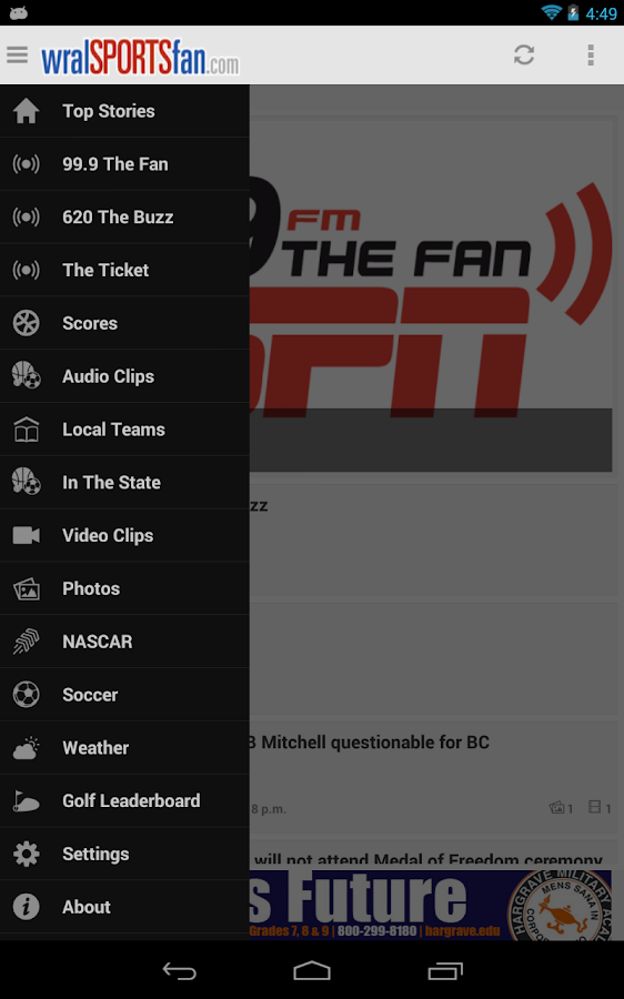 WRAL Sports Fan - screenshot